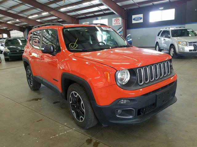Jeep salvage cars for sale: 2015 Jeep Renegade T