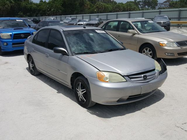 Salvage cars for sale from Copart Fort Pierce, FL: 2001 Honda Civic EX