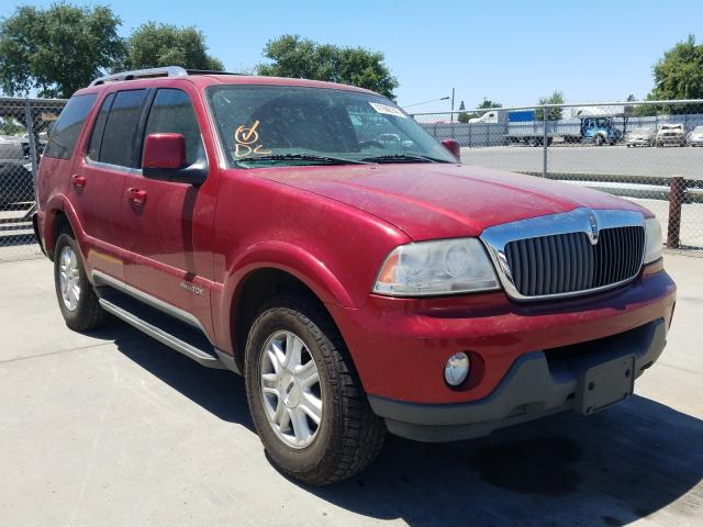 Lincoln Aviator salvage cars for sale: 2004 Lincoln Aviator