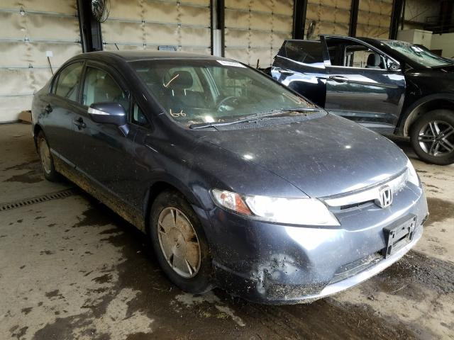 Salvage cars for sale from Copart Graham, WA: 2008 Honda Civic Hybrid