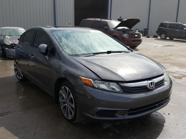 Salvage cars for sale from Copart Apopka, FL: 2012 Honda Civic EX