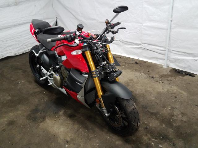Salvage cars for sale from Copart Windsor, NJ: 2020 Ducati Streetfigh