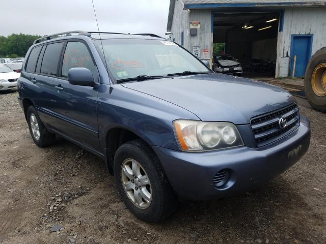 Salvage cars for sale from Copart Lyman, ME: 2002 Toyota Highlander