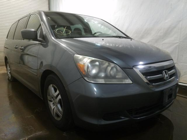 Salvage cars for sale from Copart Central Square, NY: 2007 Honda Odyssey EX