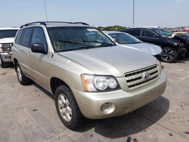 Toyota salvage cars for sale: 2002 Toyota Highlander