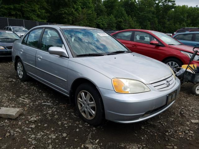 Salvage cars for sale from Copart Waldorf, MD: 2003 Honda Civic EX
