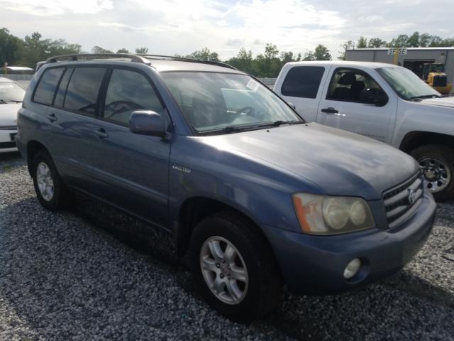 Salvage cars for sale from Copart Spartanburg, SC: 2002 Toyota Highlander
