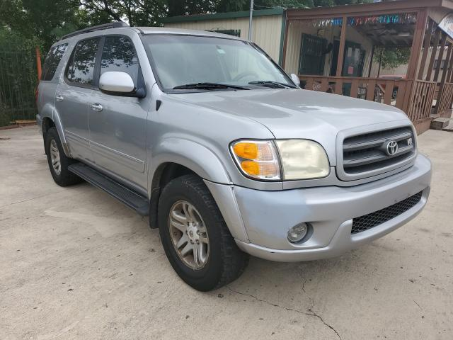 Salvage cars for sale from Copart San Antonio, TX: 2002 Toyota Sequoia SR