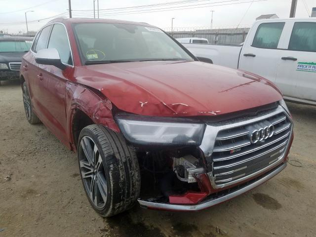 Audi SQ5 Prestige salvage cars for sale: 2018 Audi SQ5 Prestige
