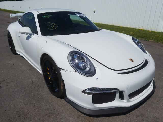 Salvage cars for sale from Copart Central Square, NY: 2015 Porsche 911 GT3