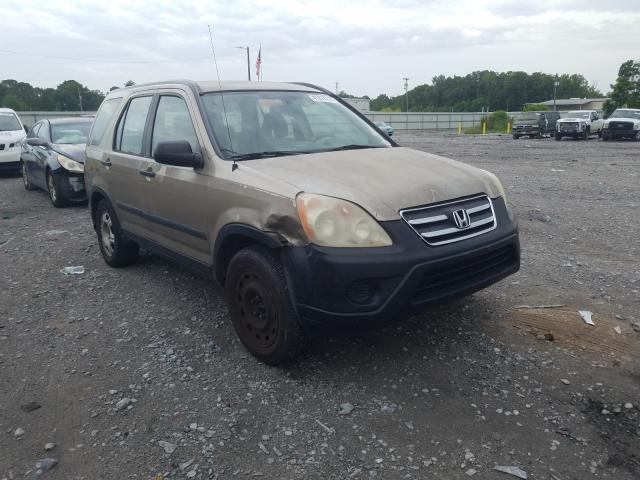 Honda CR-V LX salvage cars for sale: 2005 Honda CR-V LX