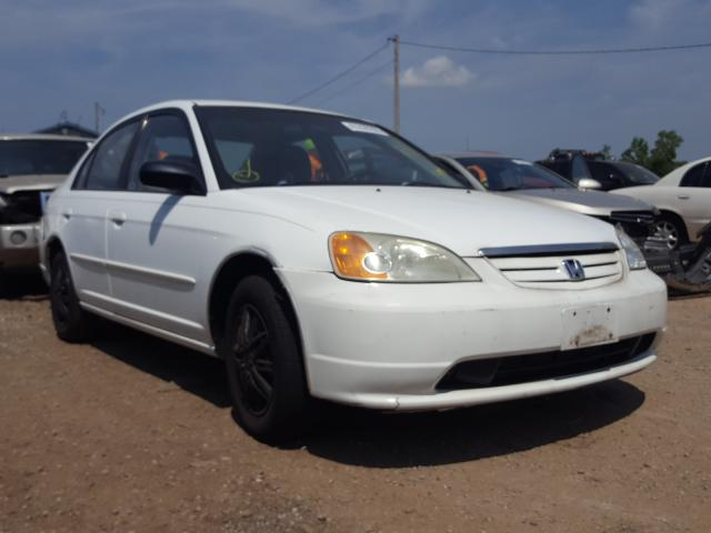 Salvage cars for sale from Copart Pekin, IL: 2003 Honda Civic LX
