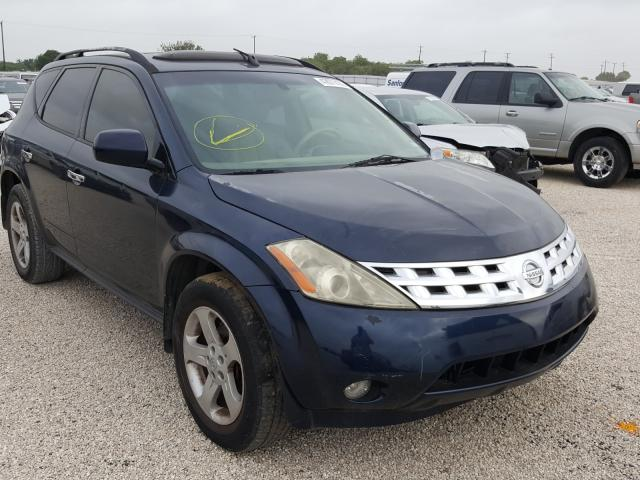 Salvage cars for sale from Copart San Antonio, TX: 2003 Nissan Murano SL