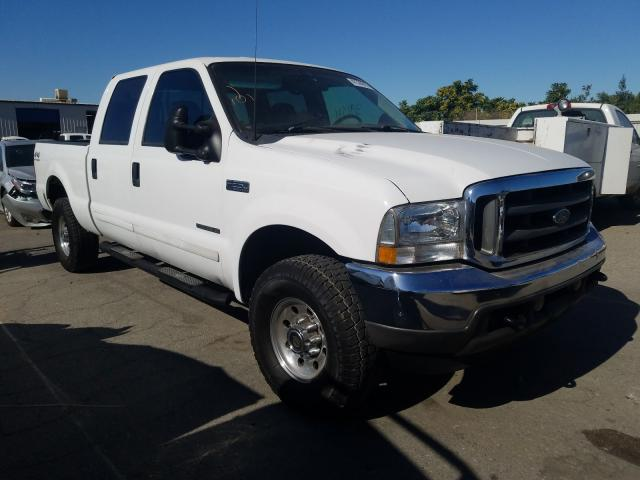 Salvage cars for sale from Copart Bakersfield, CA: 2002 Ford F250 Super