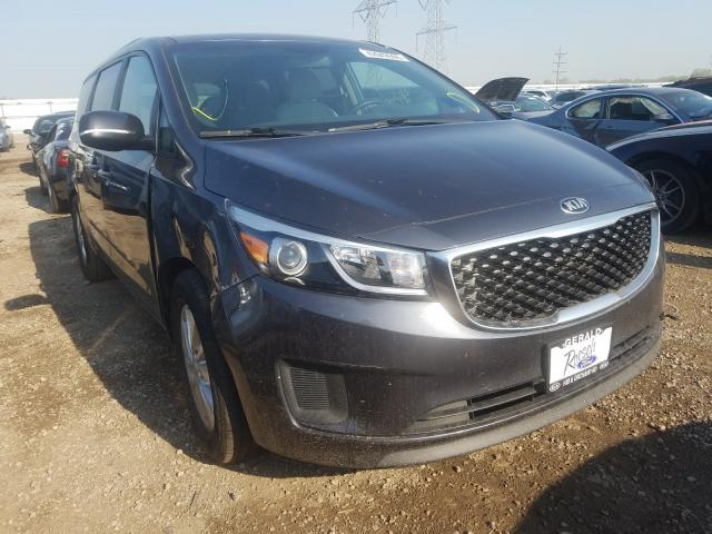 KIA Sedona LX salvage cars for sale: 2016 KIA Sedona LX