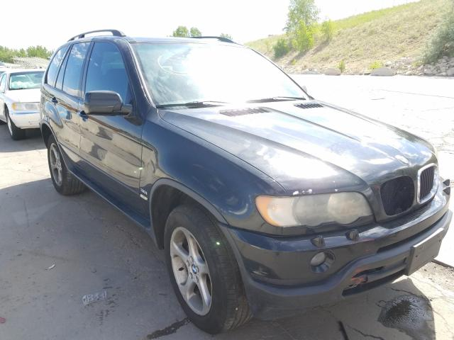 BMW salvage cars for sale: 2003 BMW X5 3.0I