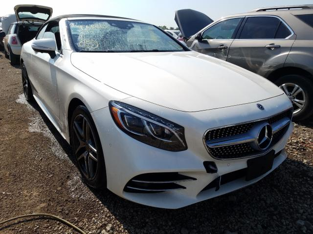 Salvage cars for sale at Elgin, IL auction: 2018 Mercedes-Benz S 560