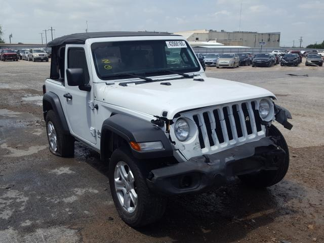 Salvage cars for sale from Copart Mercedes, TX: 2018 Jeep Wrangler S