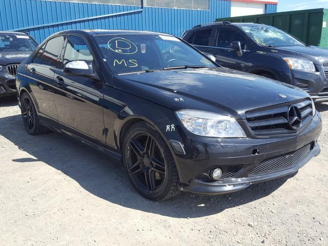 Mercedes-Benz salvage cars for sale: 2009 Mercedes-Benz C 350 4matic