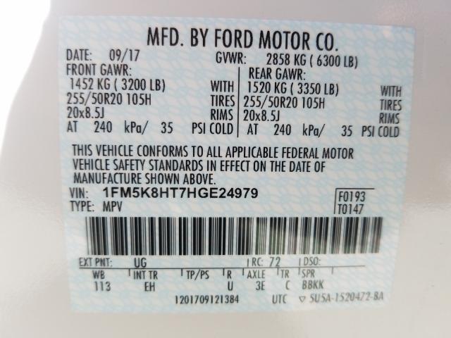 2017 Ford Explorer P 3.5L 6 in CA - So Sacramento (1FM5K8HT7HGE24979) for  Sale – AutoBidMaster