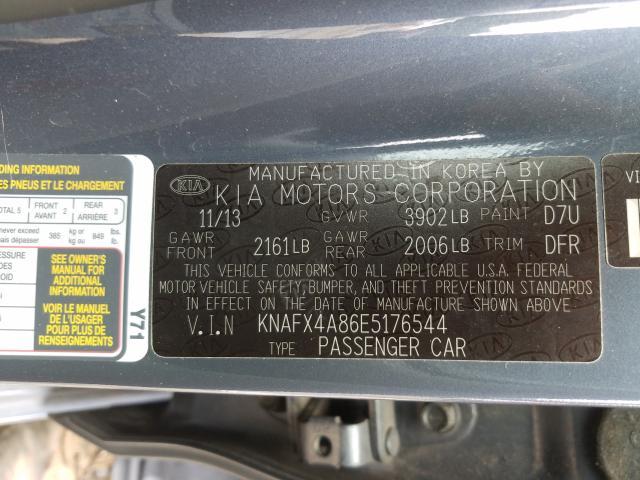 KNAFX4A86E5176544 2014 KIA FORTE EX