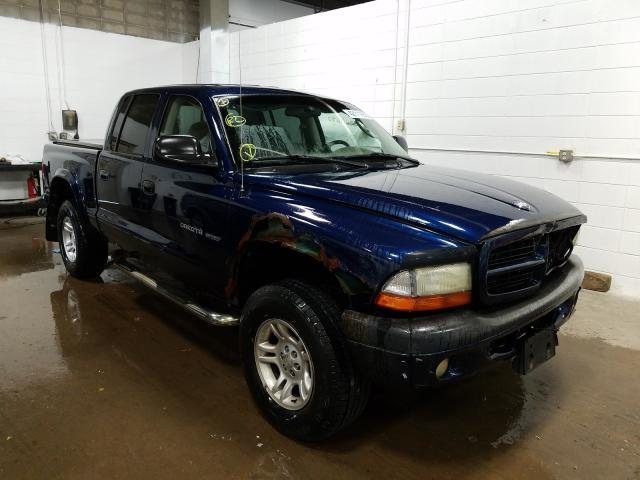 Dodge Dakota Quattro salvage cars for sale: 2002 Dodge Dakota Quattro