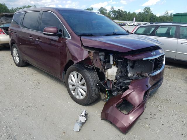 KIA Sedona EX salvage cars for sale: 2015 KIA Sedona EX