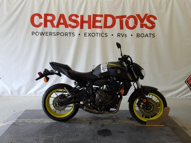 Salvage cars for sale from Copart Dunn, NC: 2018 Yamaha MT07