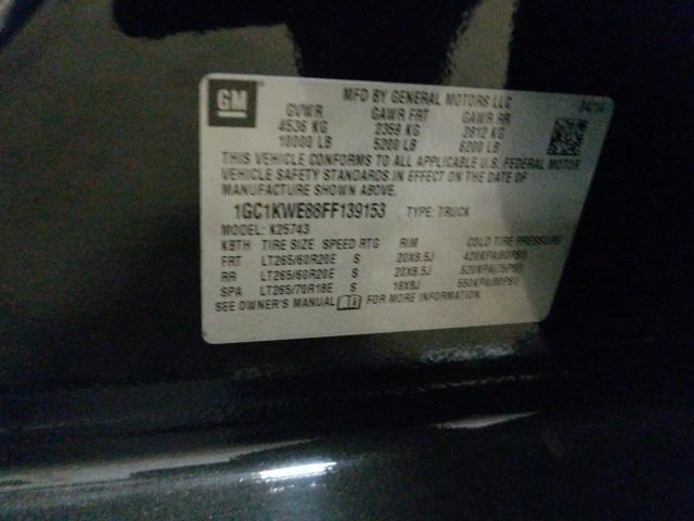 1GC1KWE88FF139153 2015 CHEVROLET SILVERADO K2500 HEAVY DUTY LTZ