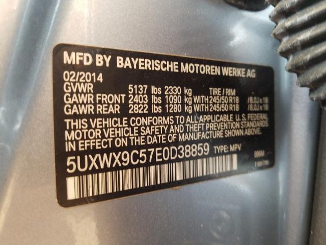 5UXWX9C57E0D38859 2014 BMW X3 XDRIVE28I