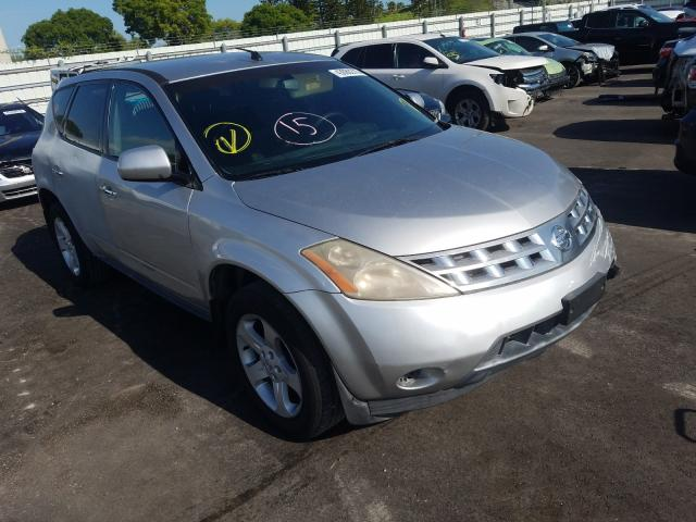 Nissan Murano SL salvage cars for sale: 2005 Nissan Murano SL