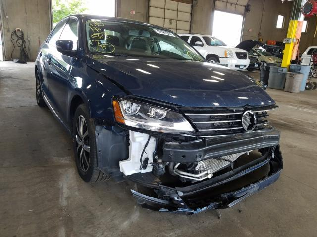 Salvage cars for sale from Copart Blaine, MN: 2017 Volkswagen Jetta SE