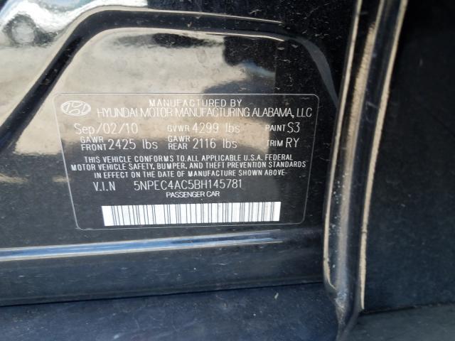 2011 HYUNDAI SONATA SE 5NPEC4AC5BH145781