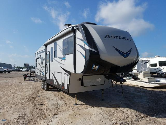 Keystone Travel Trailer salvage cars for sale: 2019 Keystone Travel Trailer