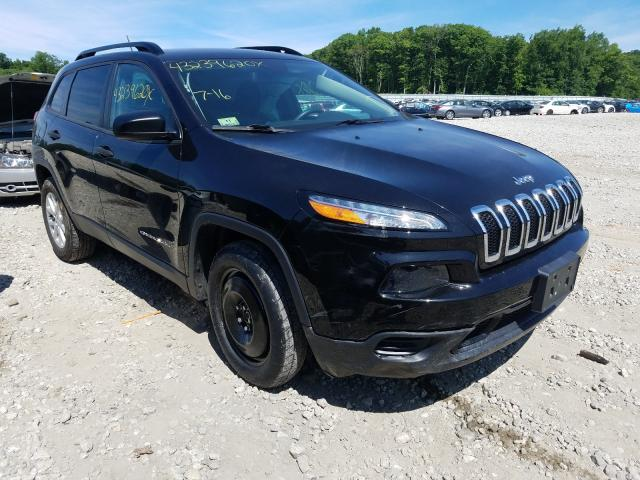 Vehiculos salvage en venta de Copart West Warren, MA: 2016 Jeep Cherokee S