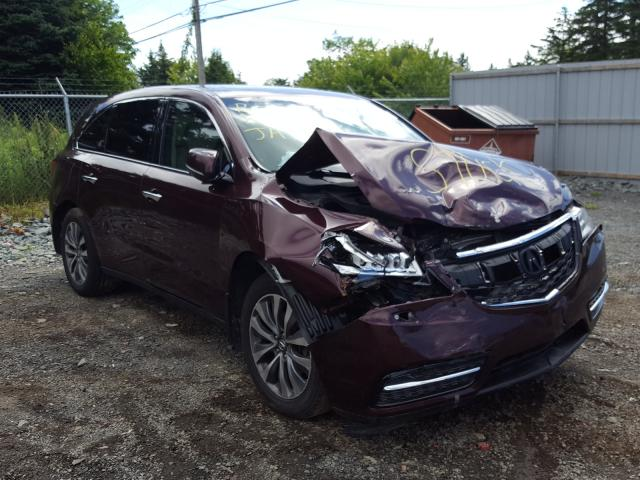 Acura salvage cars for sale: 2014 Acura MDX Techno