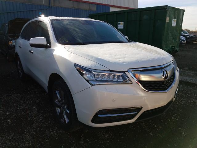 Salvage cars for sale from Copart Rocky View County, AB: 2014 Acura MDX Advance