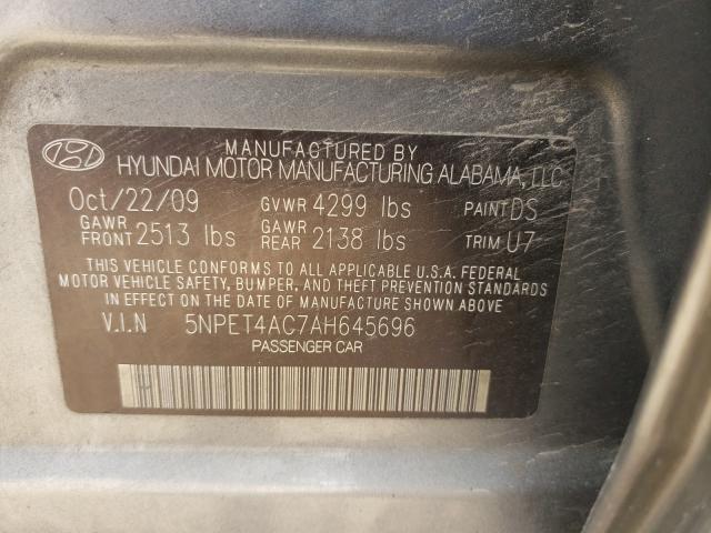 2010 HYUNDAI SONATA GLS 5NPET4AC7AH645696