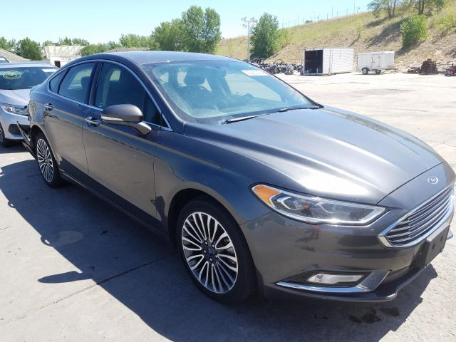Ford Fusion Titanium salvage cars for sale: 2018 Ford Fusion Titanium