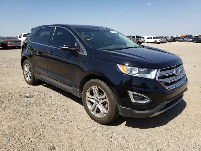 Salvage cars for sale from Copart Amarillo, TX: 2016 Ford Edge Titanium
