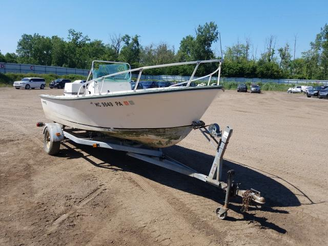 Salvage boats for sale at Davison, MI auction: 1975 Aquasport Boat Only