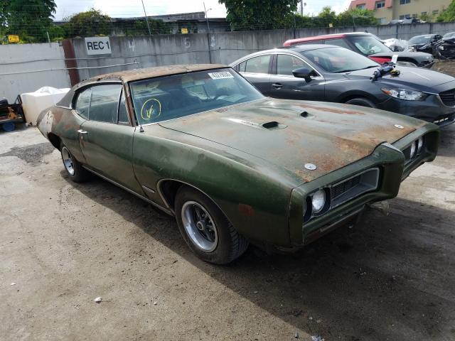 Pontiac GTO salvage cars for sale: 1968 Pontiac GTO