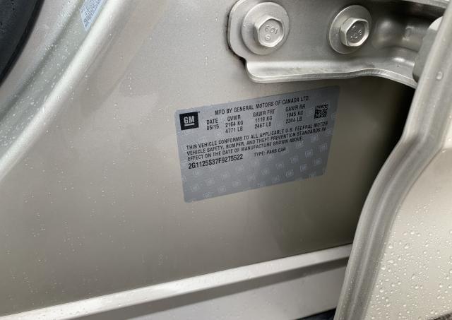 2G1125S37F9275522 - 2015 Chevrolet Impala Lt 3.6L