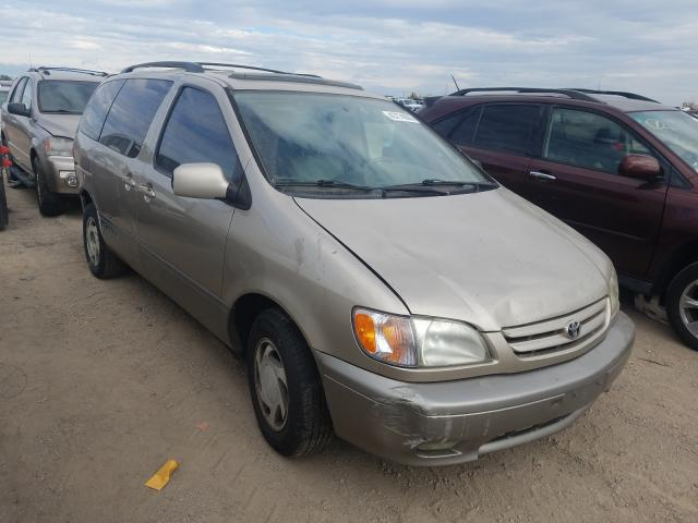 Toyota Sienna salvage cars for sale: 2001 Toyota Sienna