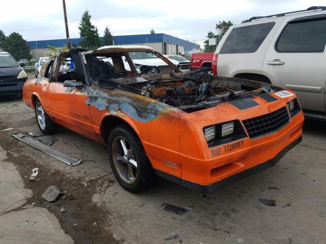 Salvage cars for sale from Copart Woodhaven, MI: 1986 Chevrolet Monte Carl
