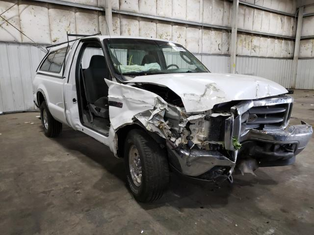 Salvage cars for sale from Copart Woodburn, OR: 2003 Ford F250 Super
