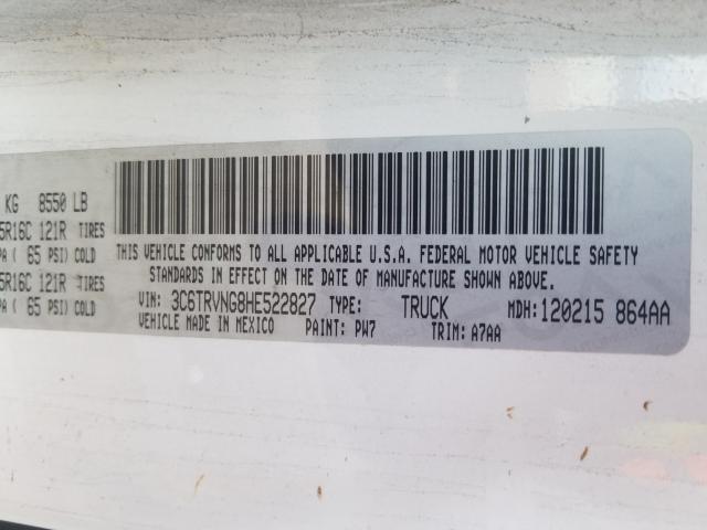 3C6TRVNG8HE522827 2017 RAM PROMASTER 1500 1500 STANDARD