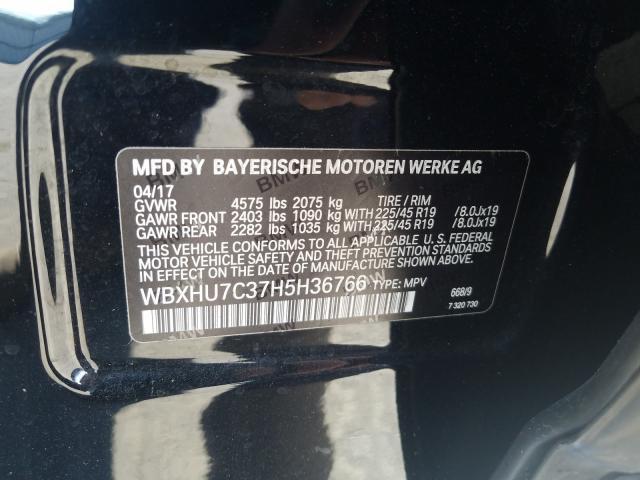 WBXHU7C37H5H36766 2017 BMW X1 SDRIVE28I