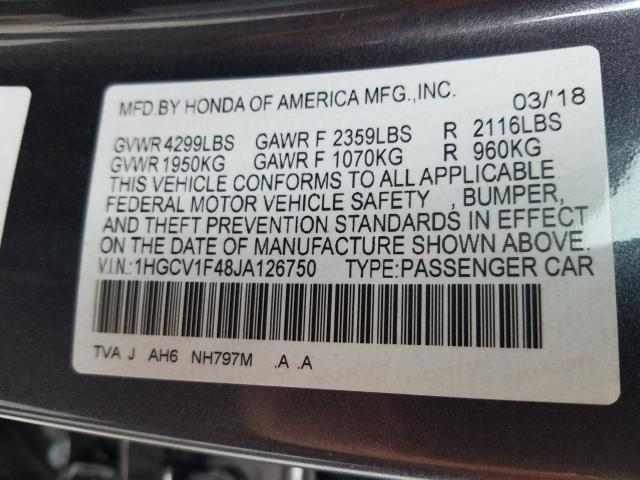 1HGCV1F48JA126750 2018 HONDA ACCORD EX