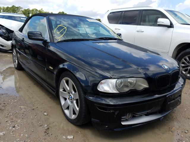 Salvage cars for sale at Houston, TX auction: 2002 BMW 330 CI